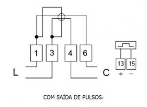 Medidor Eletrônico de Energia Elétrica Apolo Diagrama