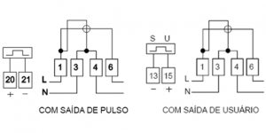 Medidor Eletronico de Energia Cronos 6001 Diagrama