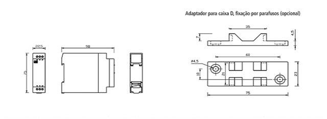rele-de-nivel-eletronico-Microprocessado-DPX-124-dimensoes