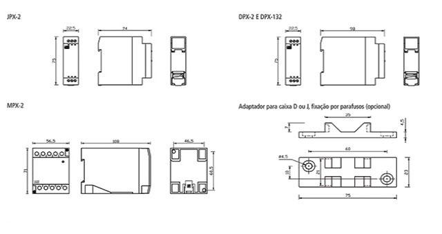 reles-de-nivel-eletronicos-microprocessados-JPX-2-dimensoes