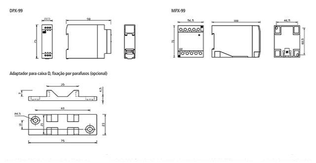 supervisor-de-tensao-monofasico-DPX-99-dimensoes