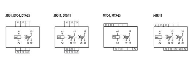 temporizadores-eletronicos-ciclicos-tipo-jtc-dtc-mtc-dtx-25-e-mtx-25-ligacao