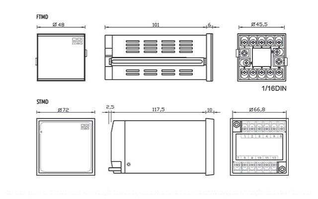 temporizadores-microprocessados-multifuncao-com-duplo-display-tipo-ftmd-e-stmd-dimensoes
