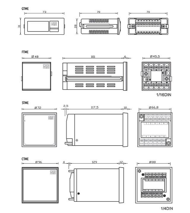 temporizadores-microprocessados-multifuncao-linha-economica-tipo-gtme-ftme-e-stme-dimensoes