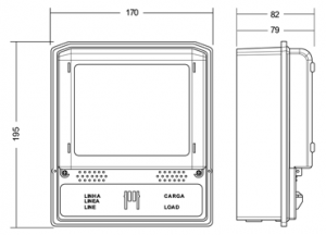 Representação Gráfica do Medidor Eletrônico Cronos 7023