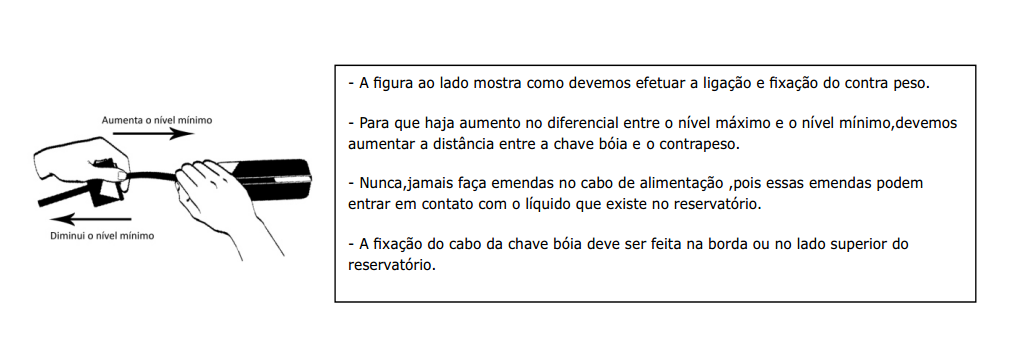 diagrama chave boia automática para controle de nível